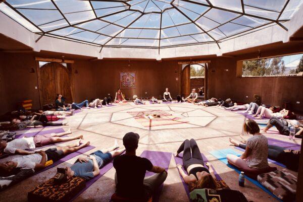 PRC Yoga Temple w people